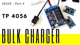 18650 - Part 4 - Battery cells bulk charging and discharging with TP4056