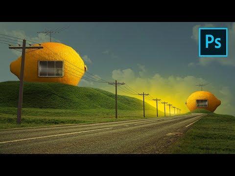 Photoshop Fantasy Manipulation Tutorial - Lemon House