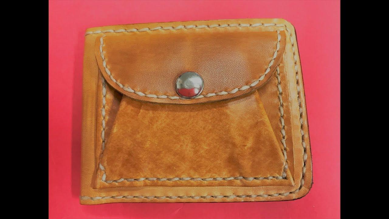 77e980dee Cómo hacer cartera billetera de cuero - YouTube