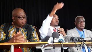 Watch MDC acting president Nelson Chamisa addressing a press briefing