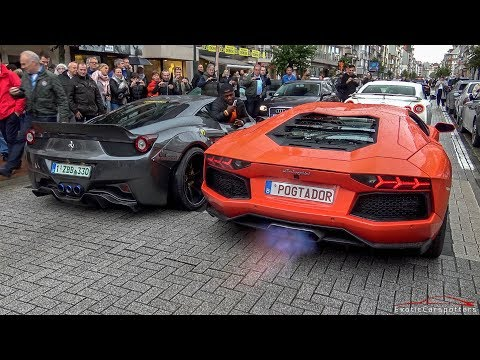 Liberty Walk 458 Italia & POG Aventador TAKE OVER The Streets of Knokke-Heist !