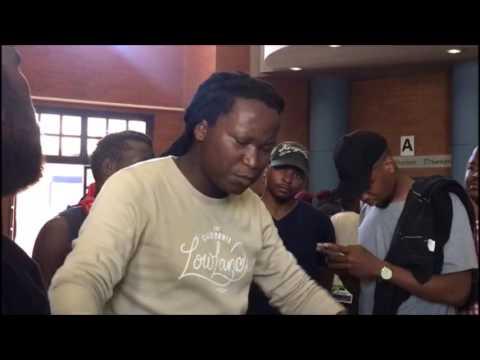 Students disrupt a meeting at University of Pretoria