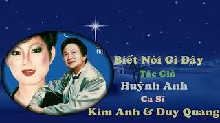 Download lagu Biết Nói Gì Đây - Kim Anh & Duy Quang