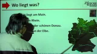 Deutsch lernen A1Wo liegt was Flüsse,Städte