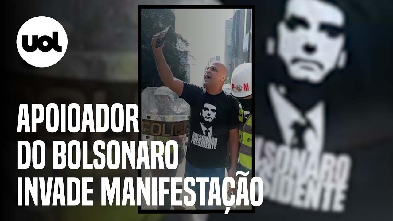Download Bolsonarista invade ato do MBL de 12 de setembro na Paulista e é escoltado pela PM