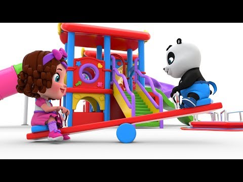 Pinky and Panda Fun Outdoor Playground for Kids | Entertainment for Children Play Center