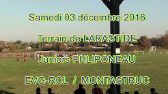 EVG-RCL / MONTASTRUC  Phliponeau  2016 / 2017