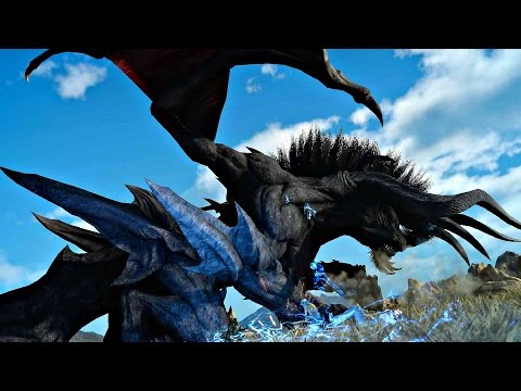 FINAL FANTASY XV - Level 140 Dread Behemoth Boss Fight Gameplay | Strongest Boss in FF15 PS4 Pro
