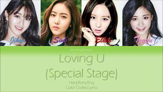 Video Jihyo, Sinb, Elkie and Tzuyu - Loving U (Special Stage) Color Coded Lyrics (Han/Rom/Eng) download MP3, 3GP, MP4, WEBM, AVI, FLV Juni 2018