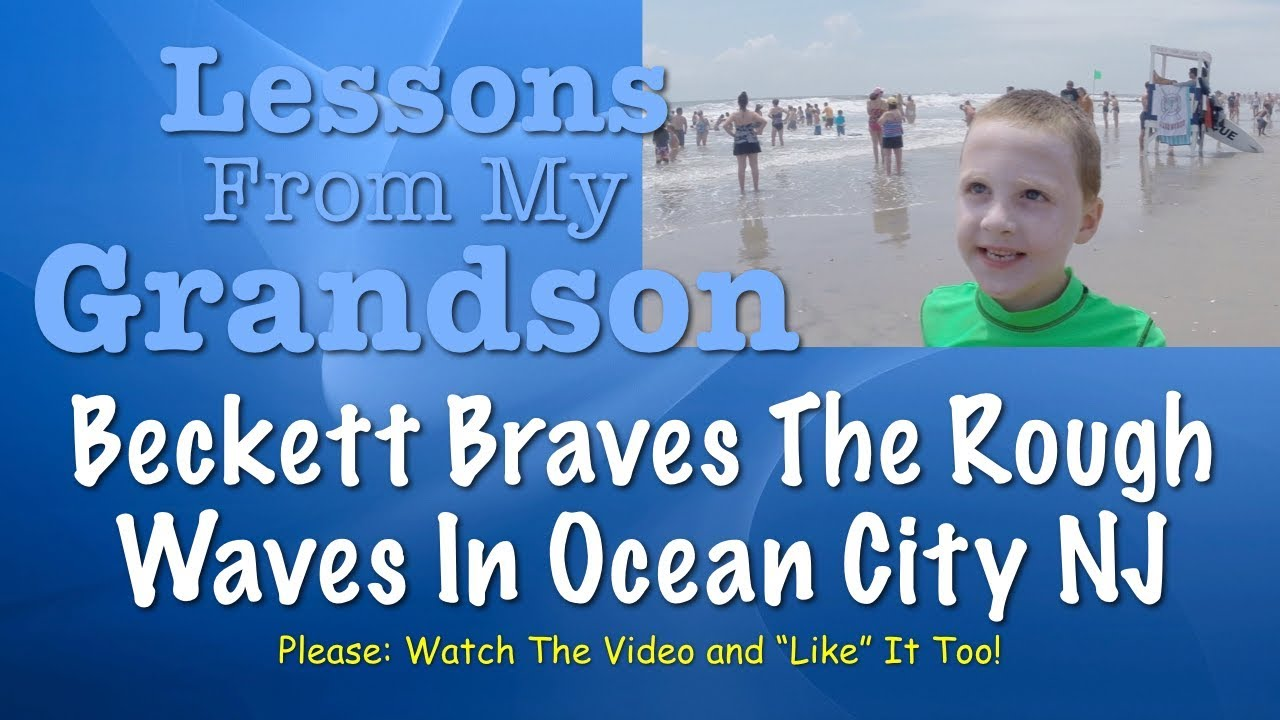 Beckett Braves The Rough Waves in Ocean City NJ — Lessons