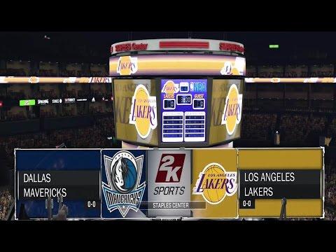NBA 2K17 Gameplay Dallas Mavericks vs  Los Angeles Lakers - Full Game