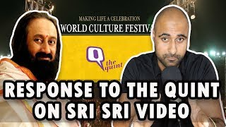 Response To The Quint Video On Sri Sri Ravishankar and Art Of Living