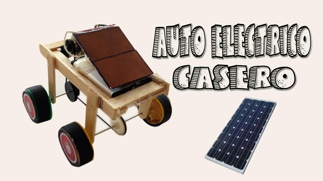 Auto El 233 Ctrico Recargable Usando Paneles Solares Youtube