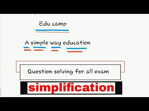 simplification || question solving || part 2 || ssc ,rrb,bank,all exams. by edu camp