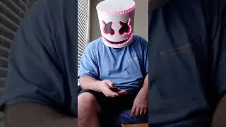 Marshmallow DJ mask