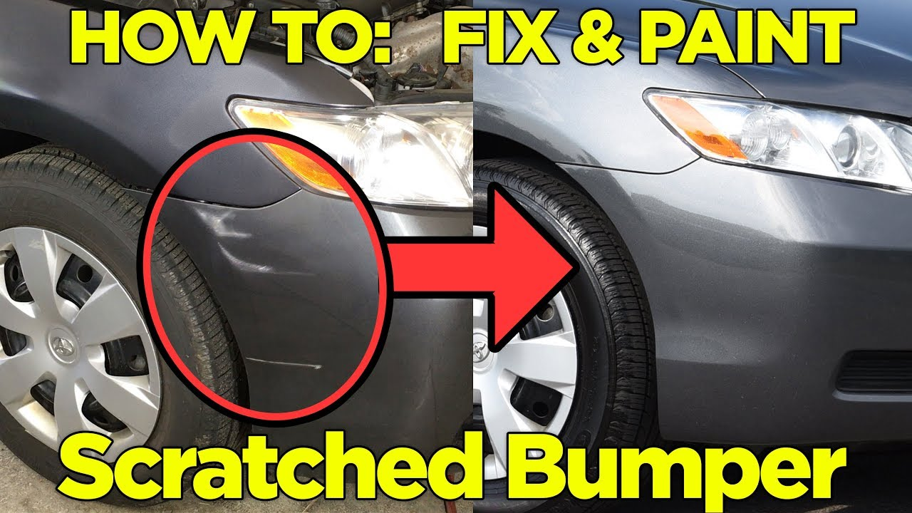 How To Repair Paint A Scratched Bumper Easy Fix