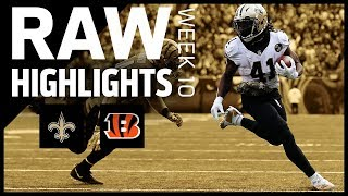 Raw Highlights from the Saints at Bengals Week 10 matchup | 2018 NFL