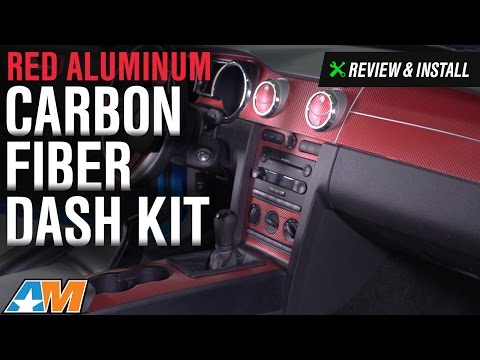 2005-2009 Mustang Red Aluminum Carbon Fiber Dash Kit Review & Install