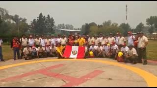 Bomberos Forestales Peruanos listos para apagar incendios en Chile