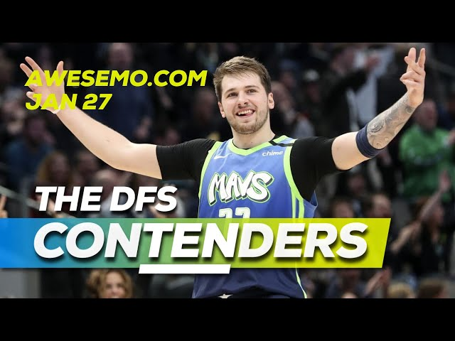 NBA DFS Today - ConTENders - Mon 1/27 - DraftKings FanDuel - Awesemo.com