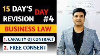 DAY 4 BUSINESS LAW l Capacity to CONTRACT and FREE CONSENT l CTC Classes