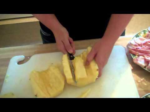 Barbecue Pork Stuffed Pineapple!