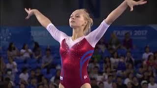 Daria Spiridonova (RUS) - FX AA - 2017 Universiade Taipei