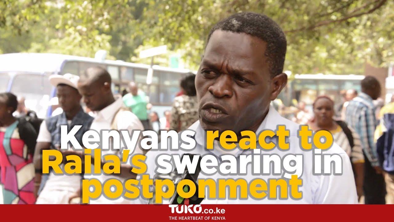 Kenyans react to Raila Odinga's swearing-in postponment