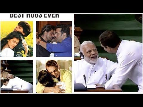 Watch: Social Media jokes on Rahul Gandhi | Rahul Hugs PM Modi Video Viral In Social Media |