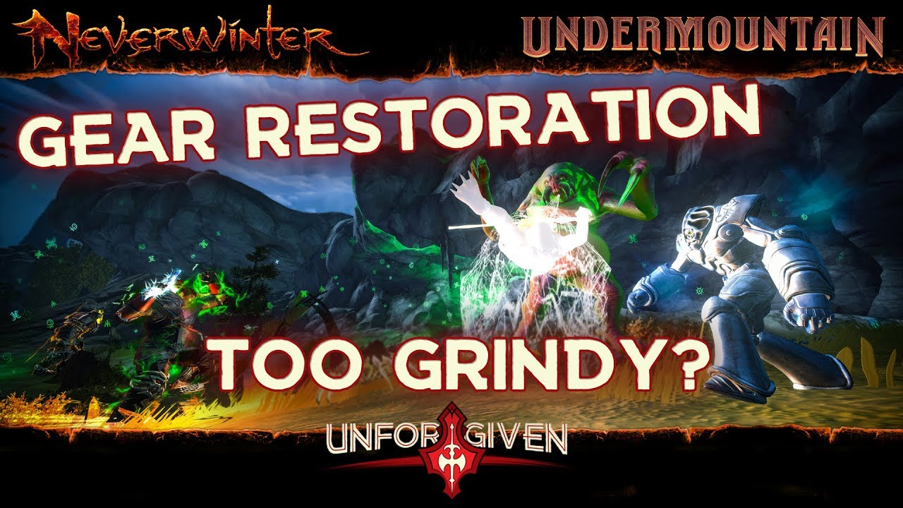 Neverwinter Mod 16 - Runic Encounters Gear Restoration Hard Grind Barbarian (1080p)