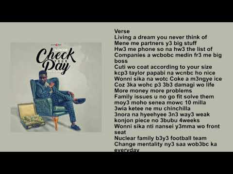 Sarkodie   Check Your Pay Lyric Video
