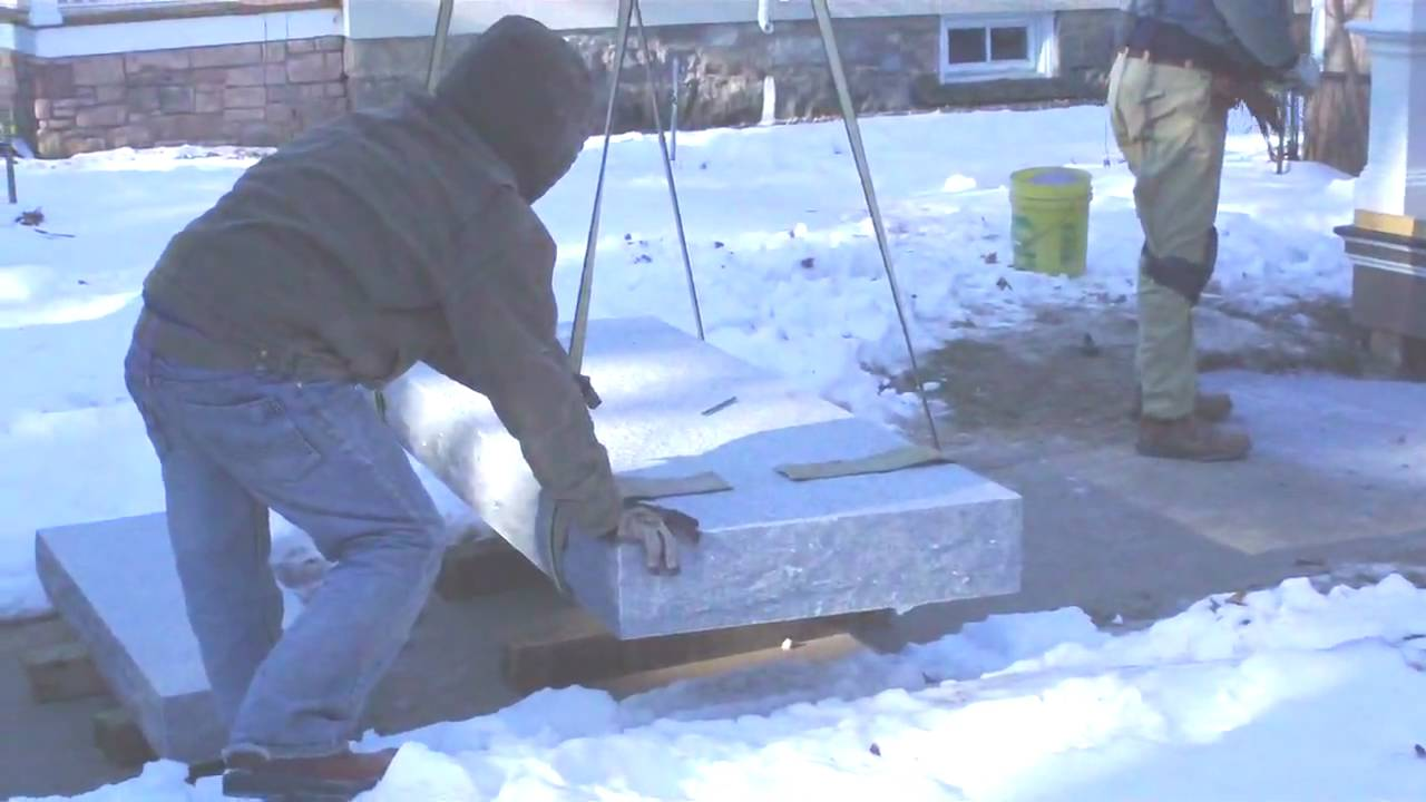 Installation Of Granite Steps   YouTube