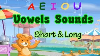 Vowels Song, Learning The Short & Long Vowels Sounds, Making Word, Pre-k & Kindergarten Activities