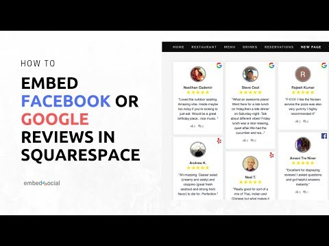Embed Facebook Or Google Reviews In Squarespace