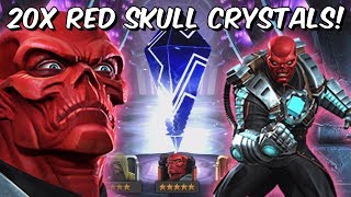 20x 5 Star Red Skull & Ghost Featured Crystal Opening! - Marvel Contest Of Champions