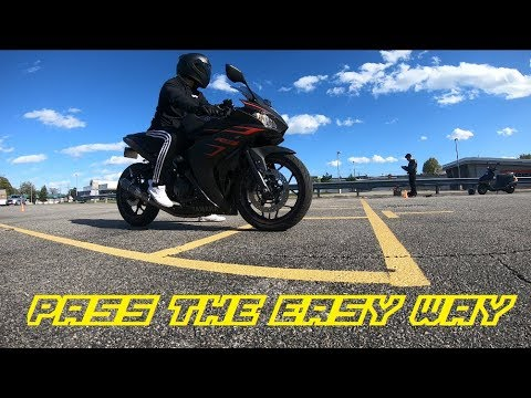 How do I pass my motorcycle road test?