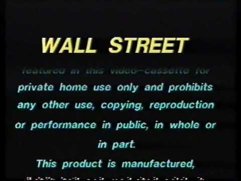 Original VHS Opening: Wall Street (UK Retail Tape)