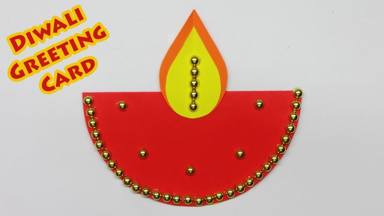 diwali greeting card  easy diwali card tutorial