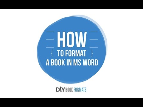 How to format a book in Microsoft Word (2018) - YouTube
