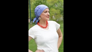 How to Tie a Square Chemo Head Scarf Bali Batik Rayon