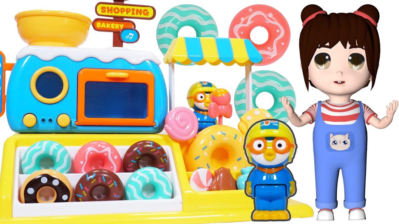 樂樂拆箱:小企鵝啵樂樂的甜甜圈店玩具