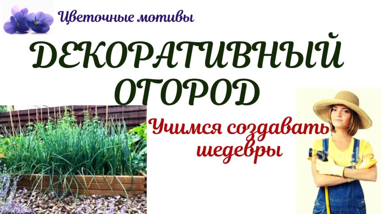 Декоративный огород (французский, дизайнерский, русский): своими руками, легко и просто!