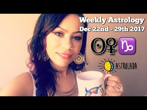 "Weekly Astrology Forecast for Dec 22nd – 29th & Celebrity ""Coffee Talk"" W/Astrologer April!"