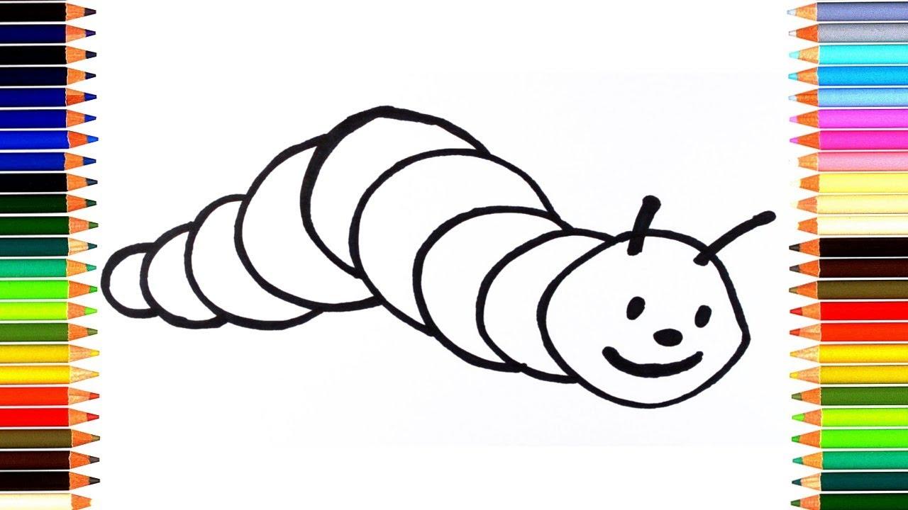 Как нарисовать гусеницу / мультик раскраска гусеница для ...