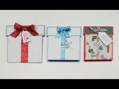 Gift Shaped Greeting Card - Tutorial