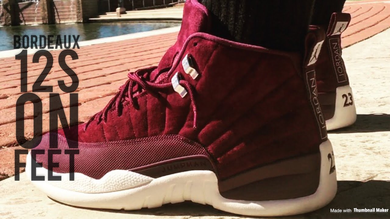 "sale retailer 58cbd ebeaa Jordan ""Bordeaux"" 12s On Feet"