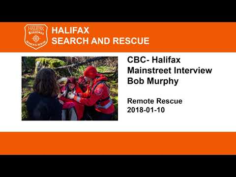 CBC Halifax Mainstreet interview on Remote Rescue