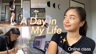 A Day In My Life ✨  (online class & workout) quarantine vlog | Philippines | Ky Santos