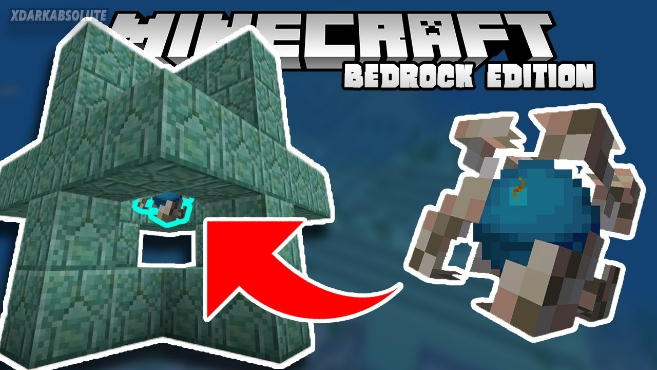 How To Craft Activate The Conduit In Minecraft Pe Youtube