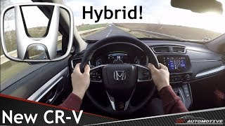 Honda CR-V (2019) 2.0i-MMD Hybrid POV Test Drive + Acceleration 0 - Top speed